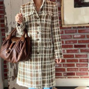 Theory Plaid Coat